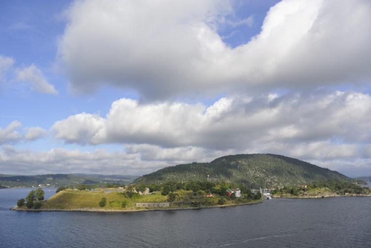 Båttur til Oscarsborg festning i Oslofjorden